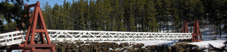 Miles Canyon footbridge